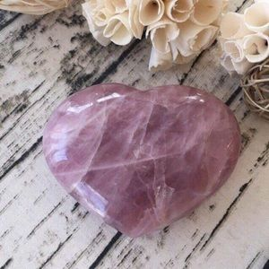 Huge Lavender Rose Quartz Heart